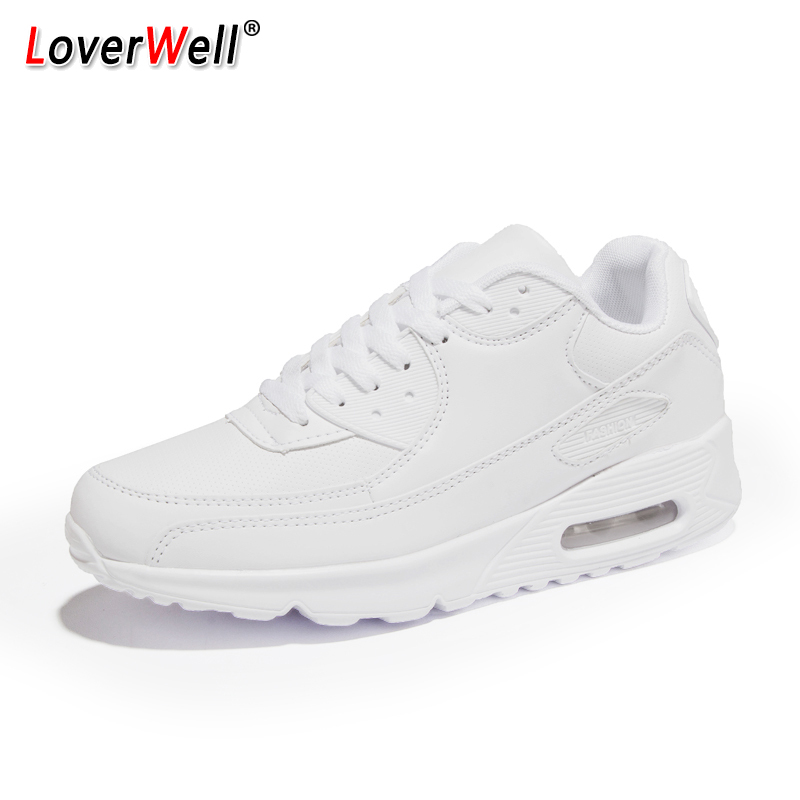 2019 New Sport Shoes For Men Women Running Shoes Air Cushion Outdoor Couples Sneakers Woman White Red Walking Shoes Size 35 - 44