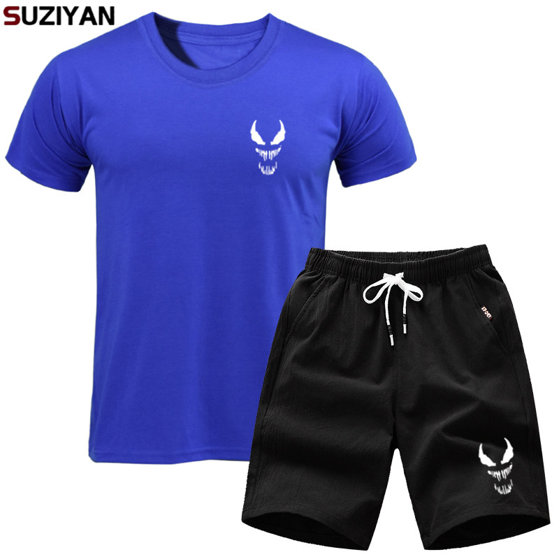 Men Summer Tracksuit Male Casual Brand Tracksuits Men's Sportsuit And Tee Shirt Set Mens T Shirt Shorts + Short Pants 2019 Sets