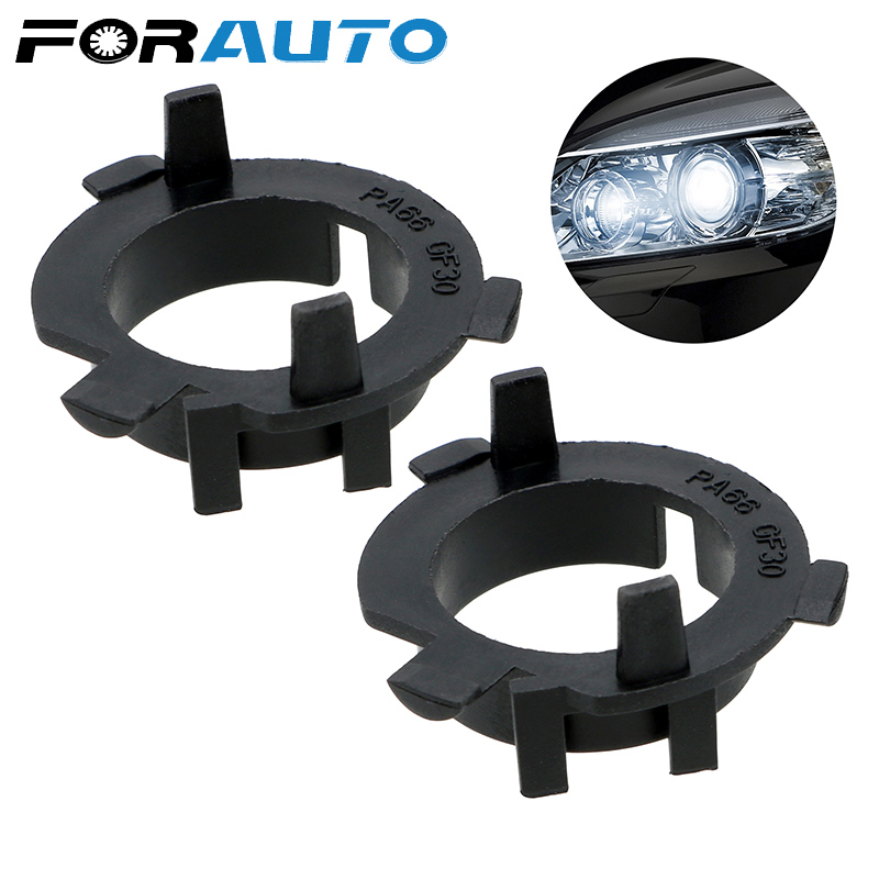 FORAUTO 2PCS LED Headlight Clip Retainer Sockets Adapter For KIA K4 K5 Sorento Hyundai Veloster Santa Fe
