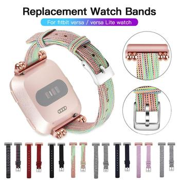 New Durable Fashion Nylon Fabric Replacement Wristband Wrist Bands Watch Band Strap Accessories For Fitbit Versa Sport Smartband фото
