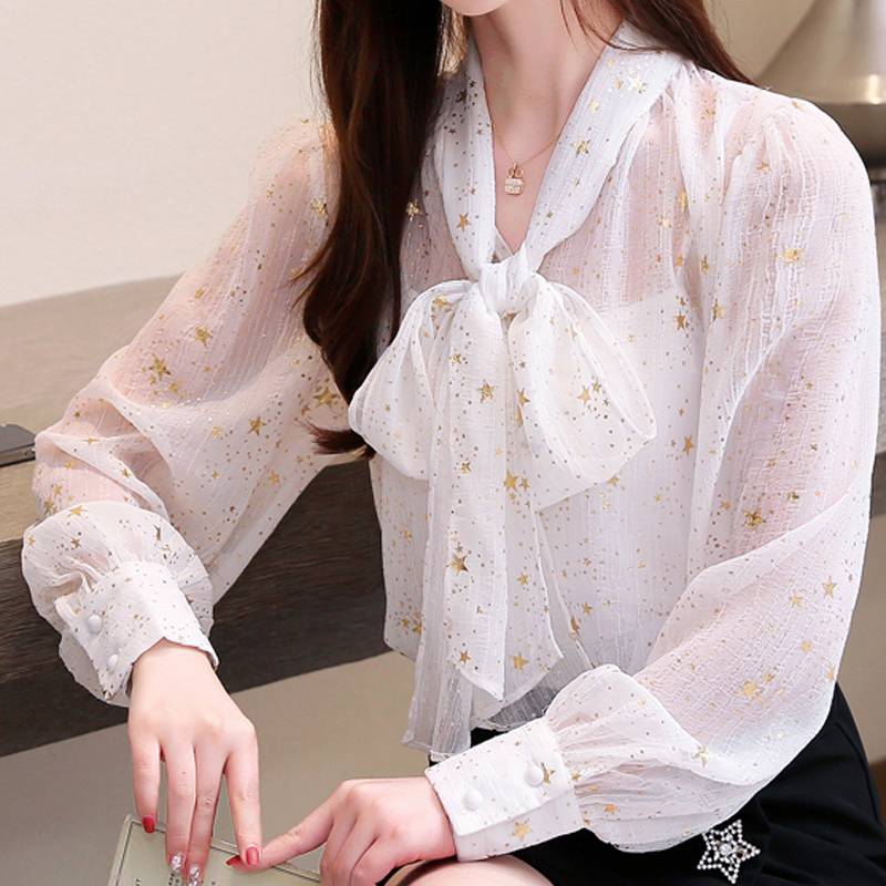 New Long sleeved Butterfly Blouses Shirts Women Casual Long Sleeved Chiffon Blouse Female Sexy Shirt Lady Office Slim Tops 687C6 in Blouses amp Shirts from Women 39 s Clothing