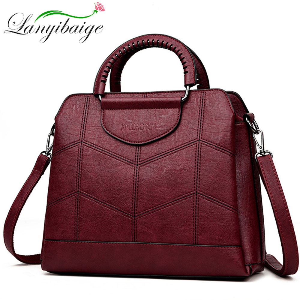 Fashion Women Handbag Leather Messenger Bag Shoulder Crossbody Bags For Women High Quality Handbags Famous Brand Sac A Main 2019