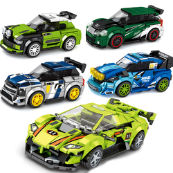 SPEED CHAMPIONS Car Racer Sets Building Block Kits Bricks Model Hornet Transformation Kids Toys Bus Technic City Great Vehicle