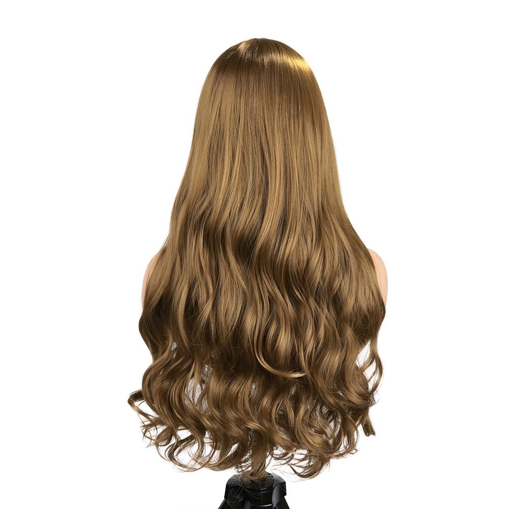 parte lateral resistente ao calor fibra verde peruca diária