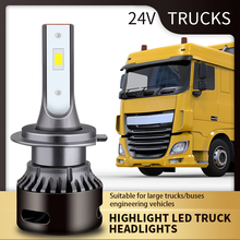 Bombilla Led de haz bajo para camión, faro superbrillante de 190W y 24V, Luz De Carretera, H4, H7, H1, H3, 6000K, 15000LM, 2 uds.