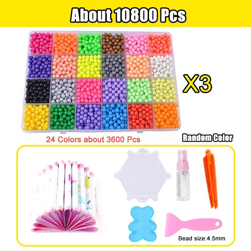 Refill Hama Beads Puzzle Aquabeads DIY Water Spray Beads Set Ball Games 3D Handmade Magic Toys For Girls Children 7