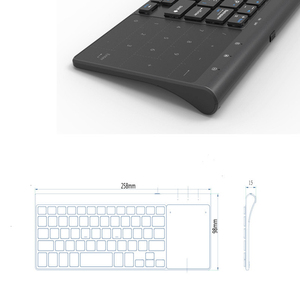 Image 3 - Jelly Comb Wireless Keyboard with Number Touchpad for Notebook PC Smart TV YR Thin USB Wireless Mini Keyboard Spanish Russian