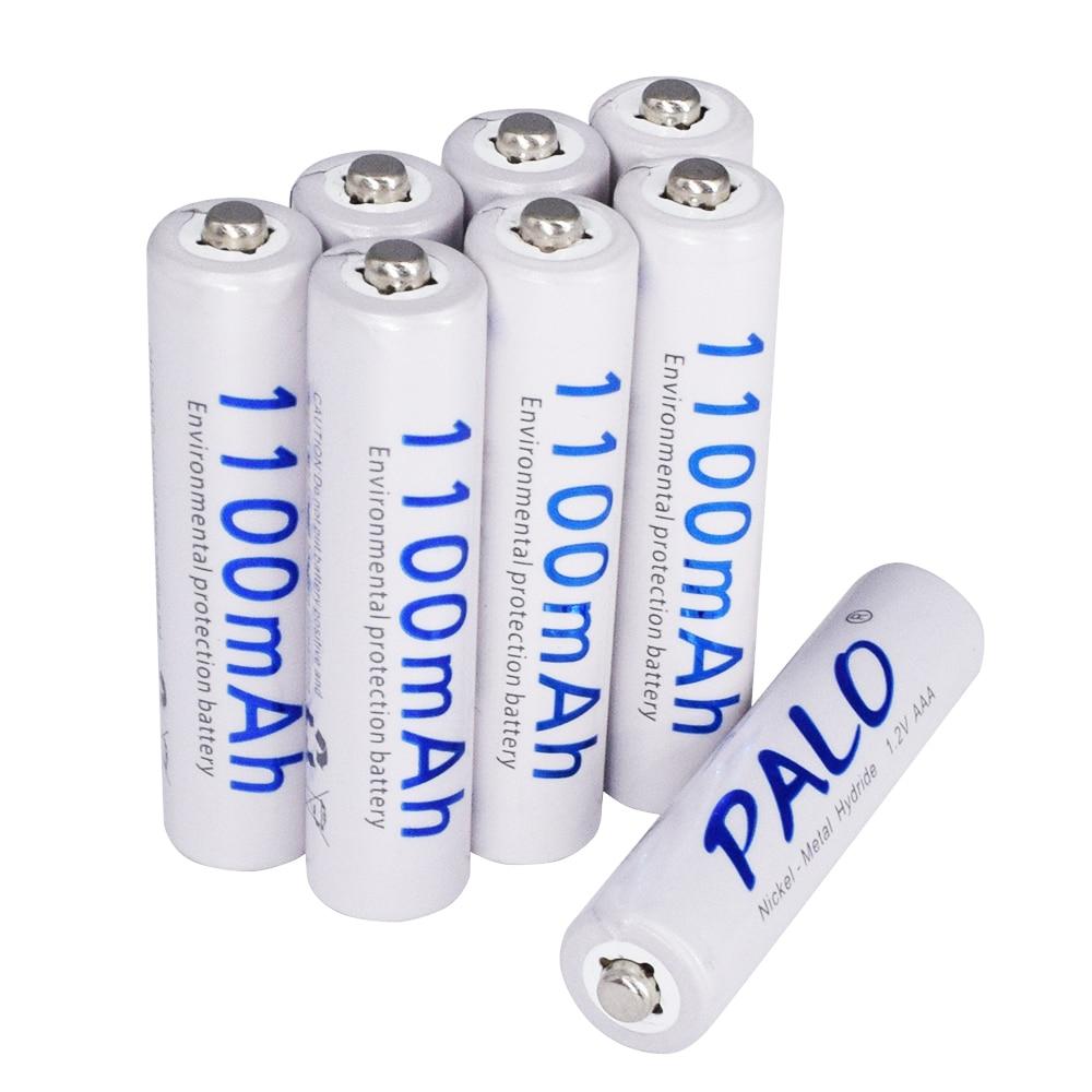 US $5.33 25% СКИДКА|Аккумуляторная батарея Palo 1100 мАч 1,2 В AAA для светодиодных игрушек, батарея и камера MP3 Mp4 микрофон|battery power fairy lights|battery led rope lights|batteries optima - AliExpress