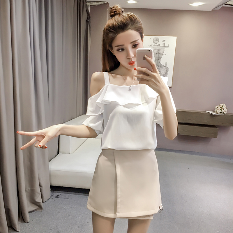 New Spring Fashion Sexy Style Solid Women Shirts Women Tops Short Sleeved Blouses Ruffles Casual Women Clothing D546 30 3