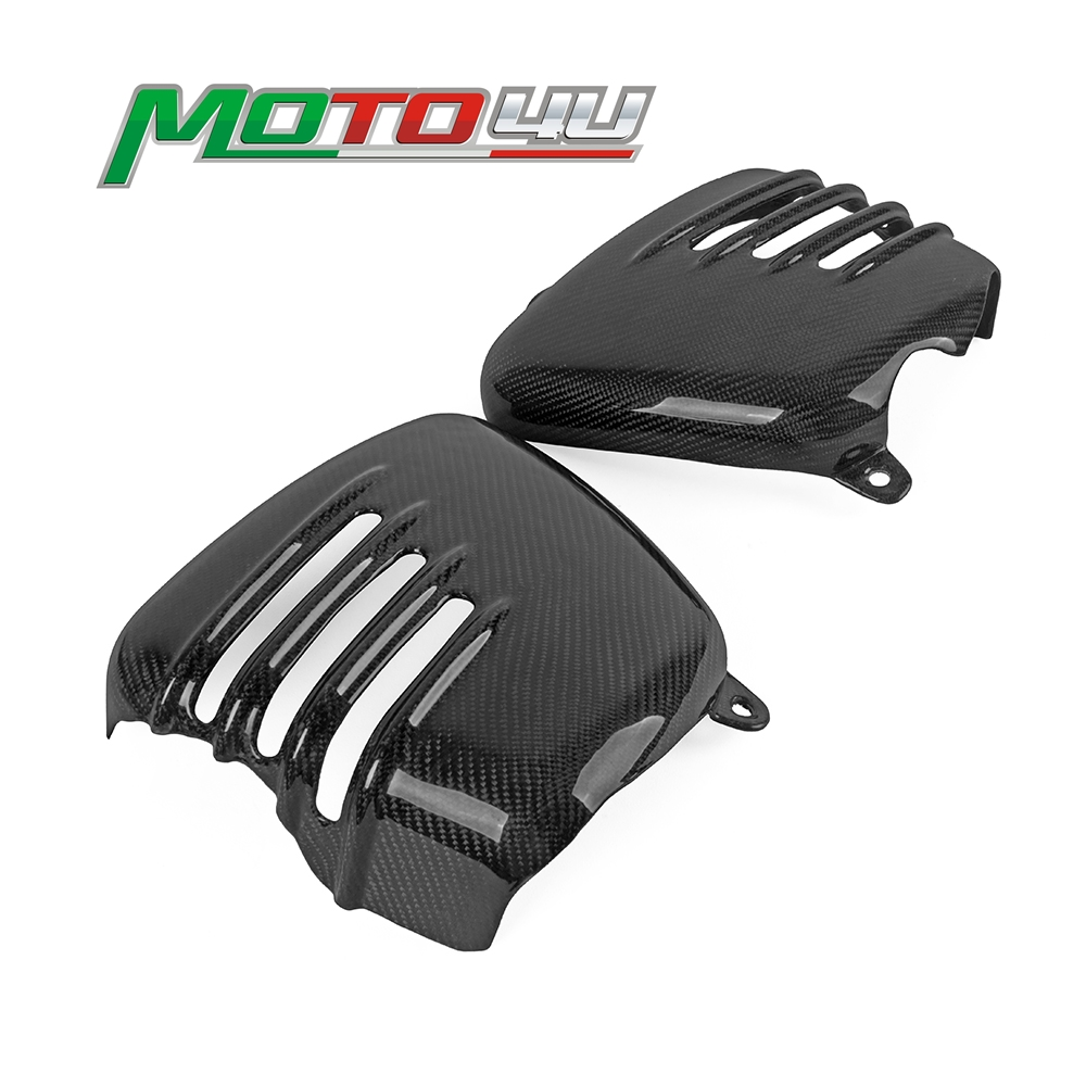 Motorcycle Side Fairing Battery Cover Real Carbon Fiber For Triumph BONNEVILLE T100 SE Thruxton 900 Scrambler 2001-2015 image