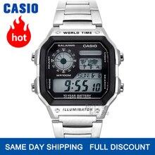 Casio นาฬิการะเบิดนาฬิกาชายยอดนิยมแบรนด์หรู LED ทหารนาฬิกาดิจิตอลกีฬานาฬิกากันน้ำควอตซ์ผู้ชายนาฬิกากันน้ำลึก100 เมตร часы мужские relogio masculino reloj hombre erkek kol saati montre homme zegarek meski AE 1200WH