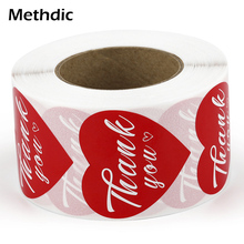 Methdic High Quality Sticker Label Thank You for Gift thank you label thank you stickers label sticker print bar thank you