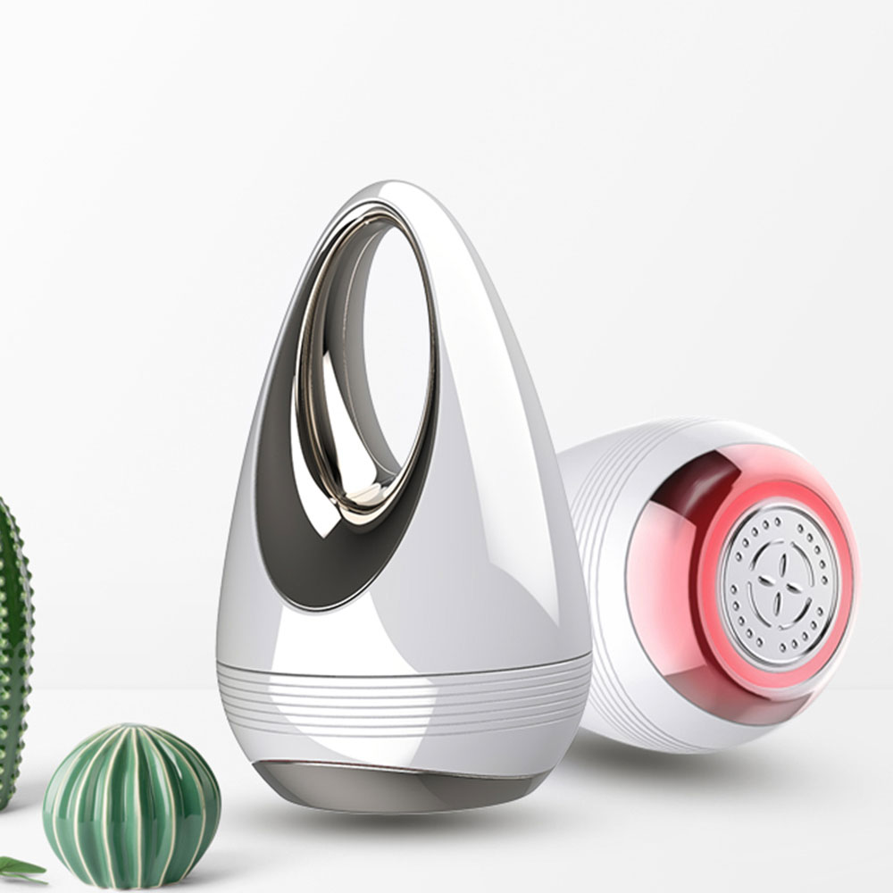 Masajeador portátil de microcorriente para estiramiento de la piel, Mini dispositivo LED de fotones con vibración para estiramiento facial, eliminador de arrugas, herramienta de cuidado de la piel