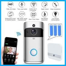 كاميرا جرس الباب Wifi الذكية واي فاي فيديو إنترفون الباب جرس مكالمة فيديو للشقق IR إنذار لاسلكي اللون عدسة الأمن كاميرا