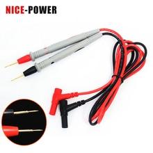 Sonda de cable de silicona de 1000V y 20A, cables de prueba universales, Pin para multímetro Digital, punta de aguja, sonda de prueba multímetro