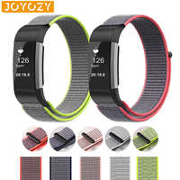 Joyozy Breathable Woven Fabric Replacement Strap For Fitbit Charge 2 Bands Women Men Fitness Activity Tracker For Fitbit charge2