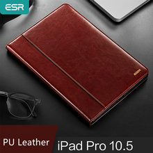 ESRกรณีสำหรับiPad Pro 10.5/11ฝาครอบพรีเมี่ยมPUหนังหรูหราธุรกิจFolio Stand Auto Wake Smart CoverสำหรับiPad Pro 11 2019