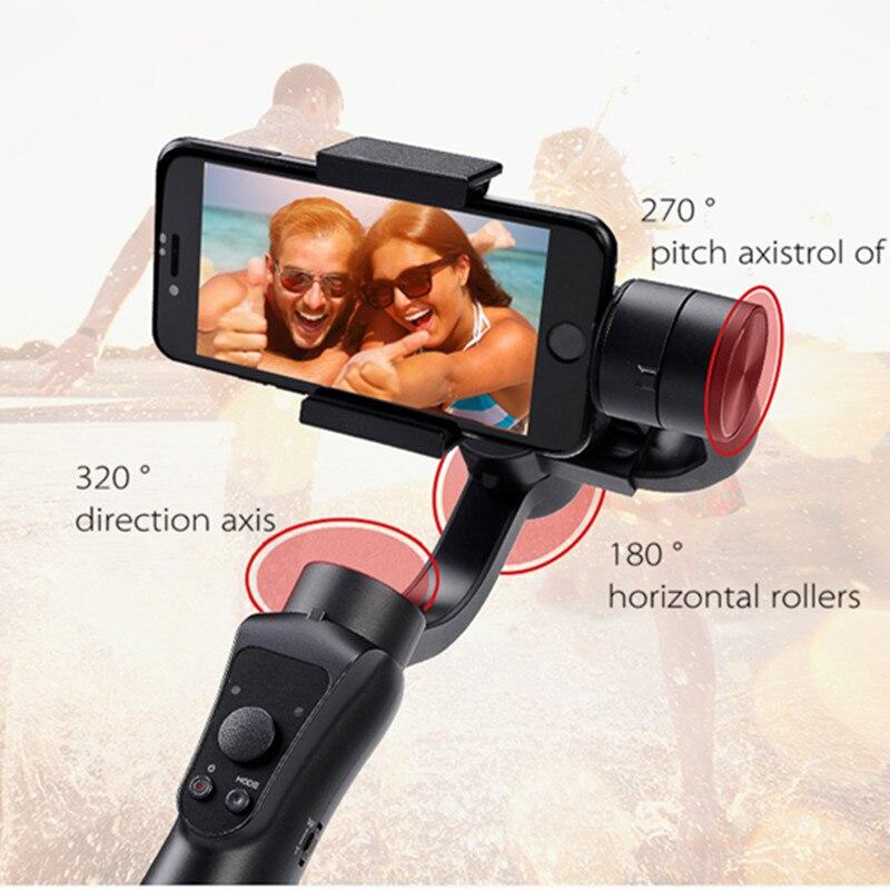 Estabilizador de cardán estabilizador portátil de mano Suave 4 3 ejes H con foco para Smartphone y Cámara de Acción grabación de vídeo - 6