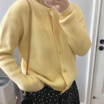 Ailegogo Women Sweater New Spring Casual O-neck Single Breasted Female Cardigans Knitted Loose Fit Ladies Tops Knitwear 1
