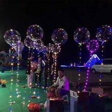 20 inç kolu Led balon ışık açık helyum Bobo balonlar düğün doğum günü partisi süslemeleri çocuk Led ışık balon toptan