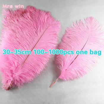 reasonable price Dyed Colors Wedding Centerpieces Colorful Decorative Ostrich Feathers plumes Snow white decoration feathers for