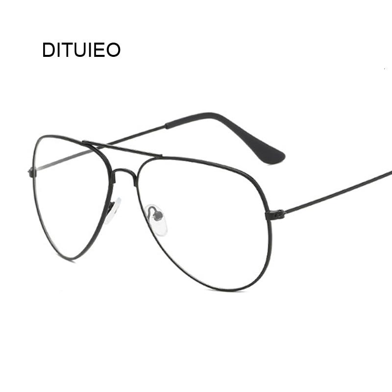 Luxury Brand Designer Aviation Big Frame Women Men Eye Glasses Vintage Metal Twin Beam Oversized Eyeglasses Clear Lens Thin