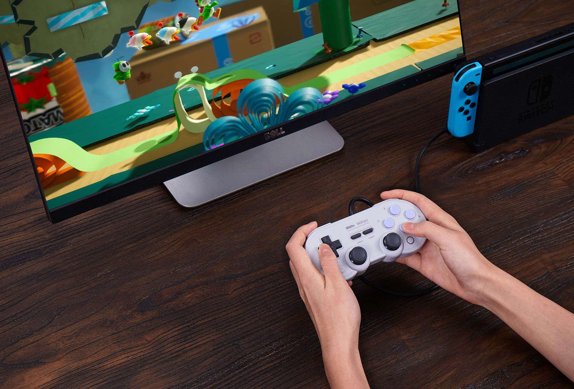 8 bitdo sn30 pro usb gamepad controlador com fio para windows