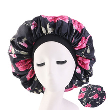 Lady Extra Large Hair Styling Caps Sleep Cap With Elastic Band Women