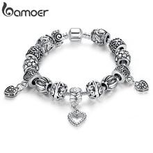 Античный серебряный браслет и браслет серебро 925 с в форме сердца кулон для женщин свадьба старинные ювелирные изделия PA1431