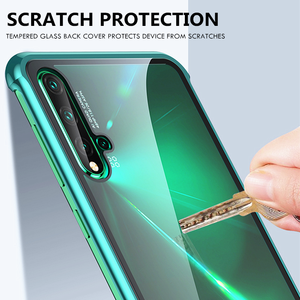 Image 5 - OMEVE Huawei Nova için 5T durumda Nova 5 kapak sınırsız metal tampon temizle temperli cam kabuk için Huawei Nova5T 5 telefon kılıfları