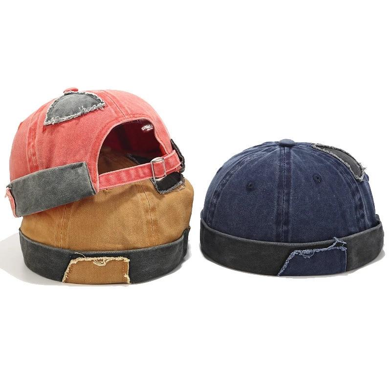 Mens Street Casual Docker Sailor Biker Hat Loop Beanie Brimless Cap Fashion