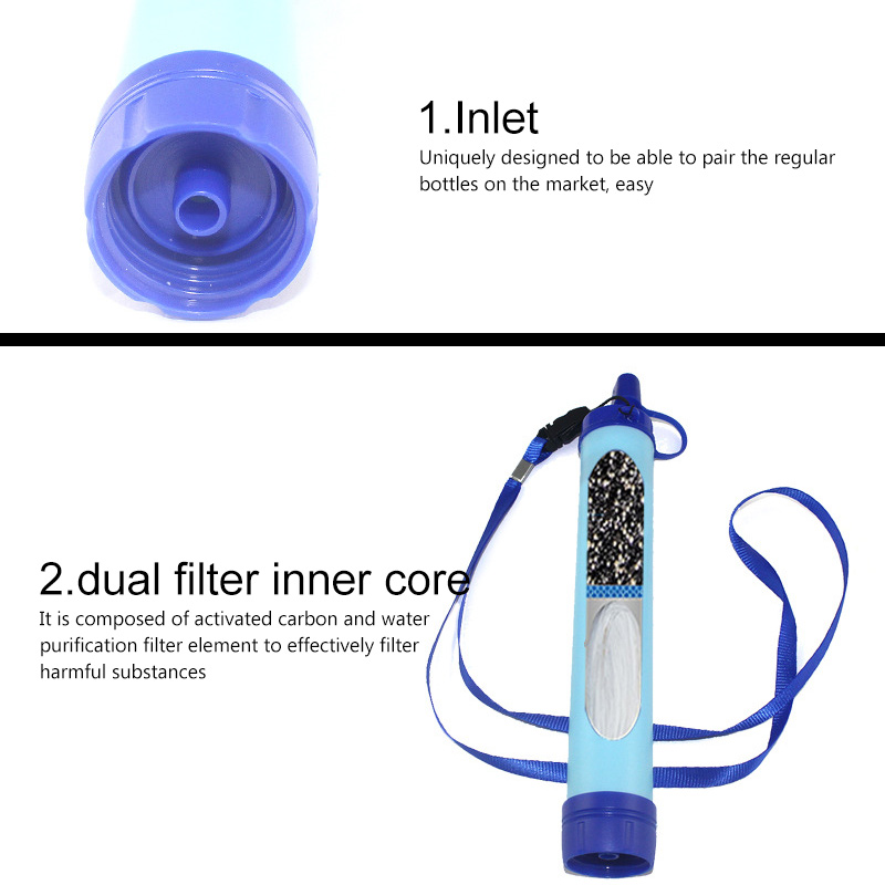 Outdoor Water Purifier Survival Multifunction Water Purifier Camping Hiking Emergency Life Survival Portable Water Filter
