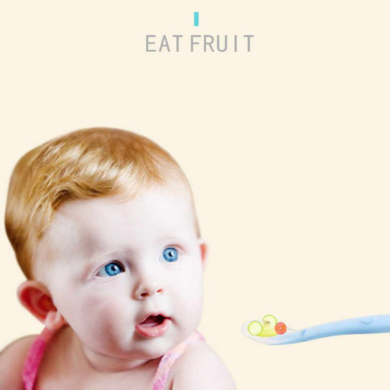 Bayi Sendok Makan Hidangan Peralatan Makan untuk Anak-anak Sendok Garpu Sendok Garpu Colher Sendok Silikon Alat-untuk-Patchwork Banyak Sendok Sup