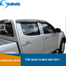side window deflectors For ISUZU D-MAX 2007-2011 Car door visor Isuzu D-max 2007 2008 2009 2010 2011  car accessories SUNZ