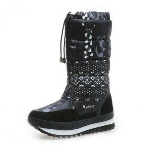 Image 1 - Natürliche wolle Winter stiefel mixed pelz Frauen Schnee Stiefel Warme schuhe Plus größe bis zu 41 schnelle zip setzen auf weibliche beliebte stil freies schiff