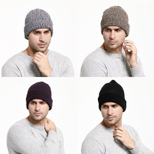 Knitted Lapel Short Melon Cap  Knit Solid Color Autumn Winter Hat Men Head Outdoor Warm Street Woman