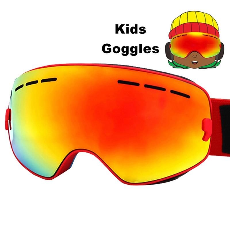 Детские лыжные очки противотуманные двойные линзы лыжные очки UV400 Лыжные Сноуборд Скейтборд зимние очки лыжные очки От 4 до 16 лет