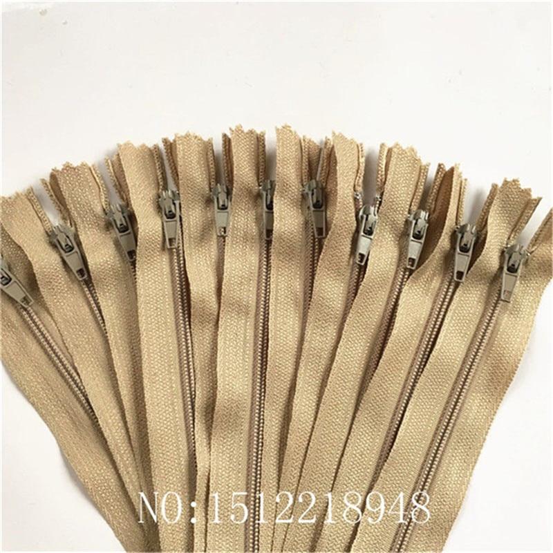 10 шт. 3 дюйма-24 дюйма(7,5 см-60 см) нейлоновые застежки-молнии для шитья на заказ нейлоновые молнии оптом 20 цветов - Цвет: Khaki