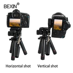 Image 2 - سطح المكتب اطلاق النار كاميرا ثلاثية صغيرة حامل الهواتف الذكية جبل حامل ثلاثي الأبعاد رئيس ترايبود للسفر كاميرا dslr