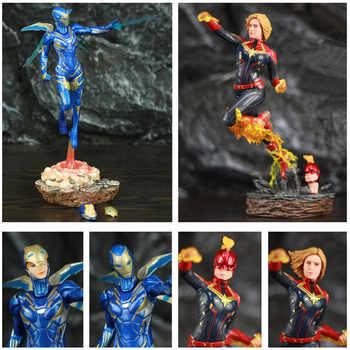 Captain Marvel & Iron Man Ruscue 1/10 Statue Figure Carol Danvers Studios Toys Avenger 4 Endgame Spuer Heroine Hero Movie Doll - DISCOUNT ITEM  0% OFF All Category