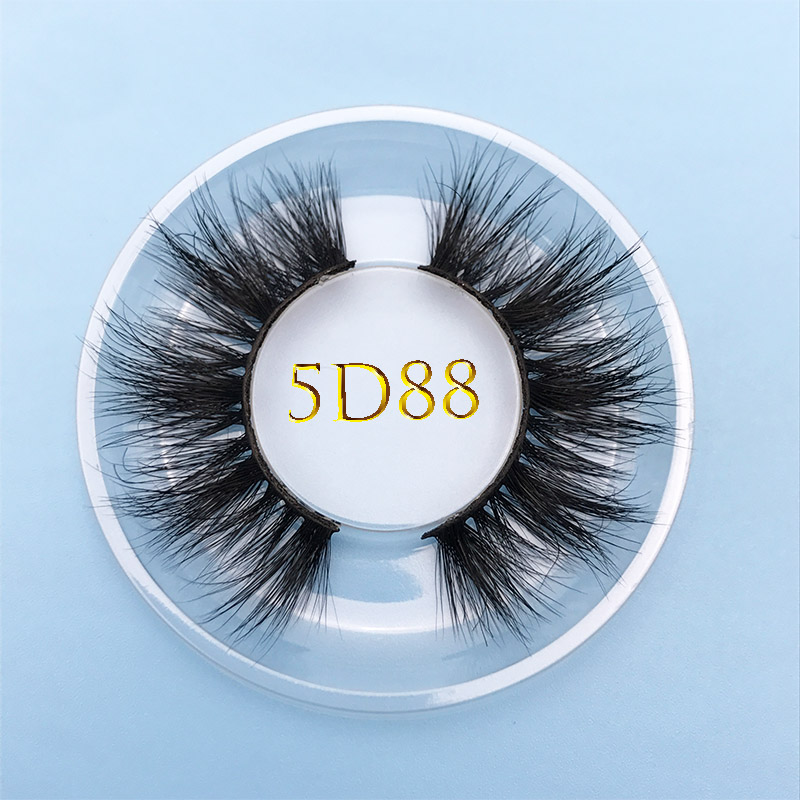 MIKIW 5D88 Custom Box 15MM Long Natural False Eyelash100% Cruelty Free Handmade Crisscross 5D Mink Lashes Extention Multi-layer