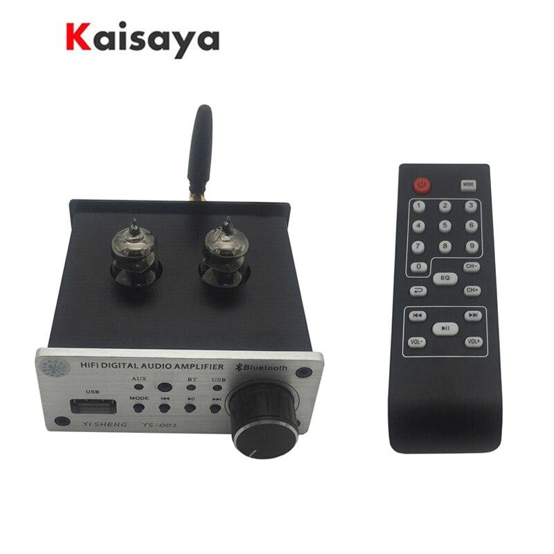 Bluetooth 5.0 Tube 6J3 HiFi préamplificateur conseil U disque AUX RCA entrée amplificateur carte avec Radio FM télécommande C5-006