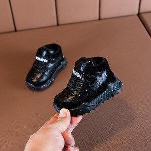 Image 2 - Claladoudou zapatos de tenis para bebé de 12 16cm, calzado de terciopelo fino negro para Bebé y Niño, zapatillas de bebé de leopardo de 24m, deportivas para niño pequeño de 0 a 2 años