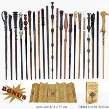 28 видов металлических сердечников гончарные волшебные палочки для косплея Волдеморт Гермиона волшебная палочка карта мародера в качестве бонуса без коробки