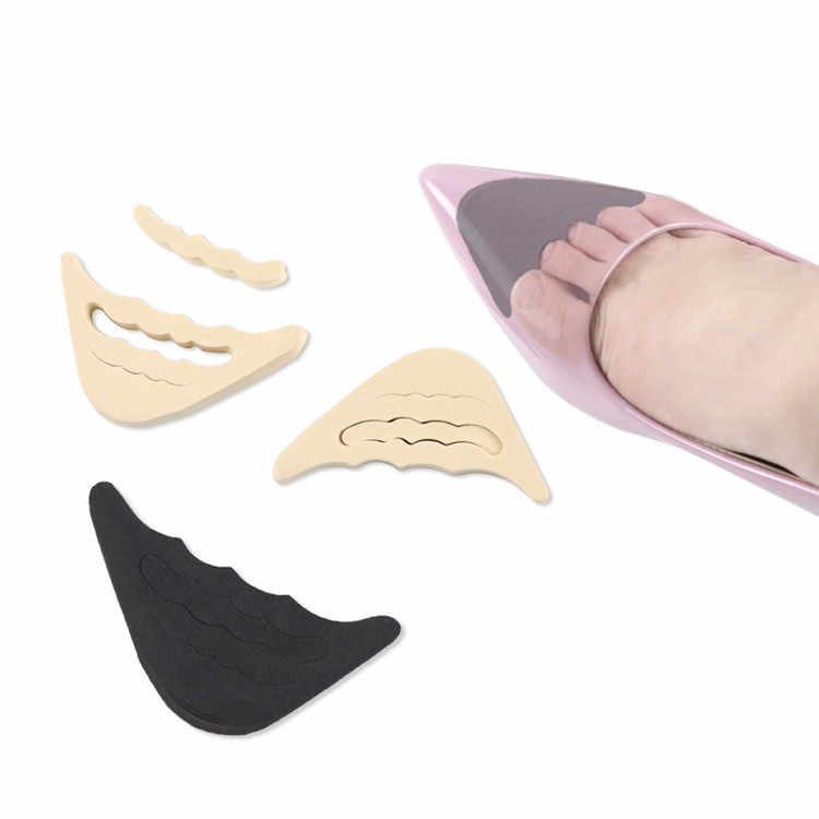 1 Pair Women High Heels Half Forefoot Insert Toe Care Plug Cushion Pain Relief Protector Big Shoes Toe Front Filler Adjustment