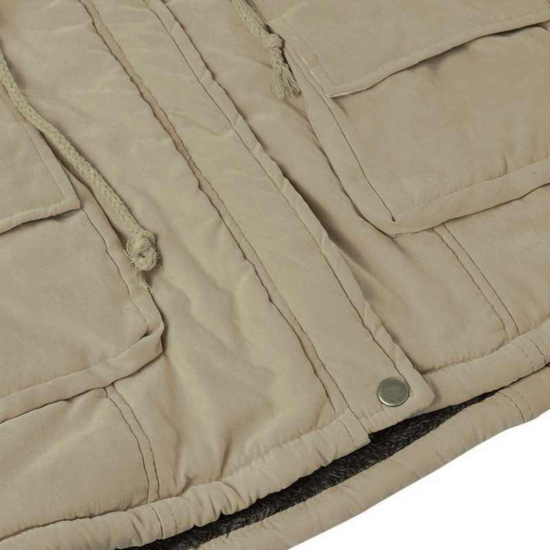 Warme Parkas Weibliche Jacke Mäntel Plus Größe 3XL chaqueta mujer 2019 Kragen Schlank Zipper Oberbekleidung Pelz Jacke Winter jacke frauen