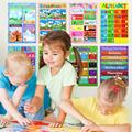 10 шт., постеры с буквами алфавита для детей дошкольного возраста