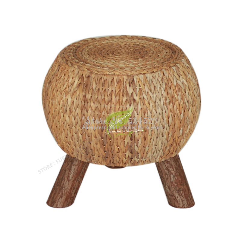 Solid Wood Hand Made Low Rattan Shoes