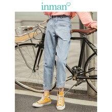 INMA 2020 Ladyกางเกงฤดูใบไม้ร่วงใหม่ลำลองสไตล์กางเกงยีนส์สตรี