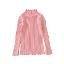 2019 Autumn Winter Children's Clothes Baby Girls Knitted Turtleneck Sweaters Kids Solid Casual Sweaters for Girl 2-7 Years Old недорого